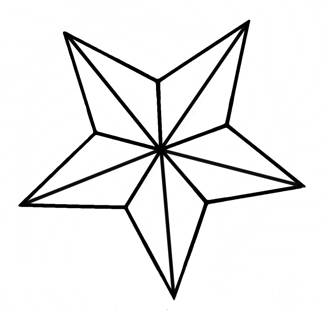 Nautical Star Outline - ClipArt Best