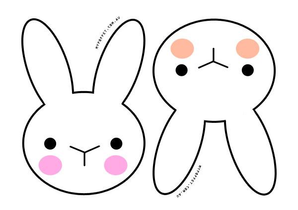 Easter Bunny Templates For Kindergarten - ClipArt Best