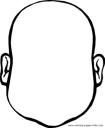 Face Outline Template