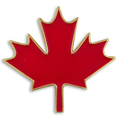 "Amazon.com: PinMart's Canadian Maple Leaf Canada 1"" Lapel Pin ..."