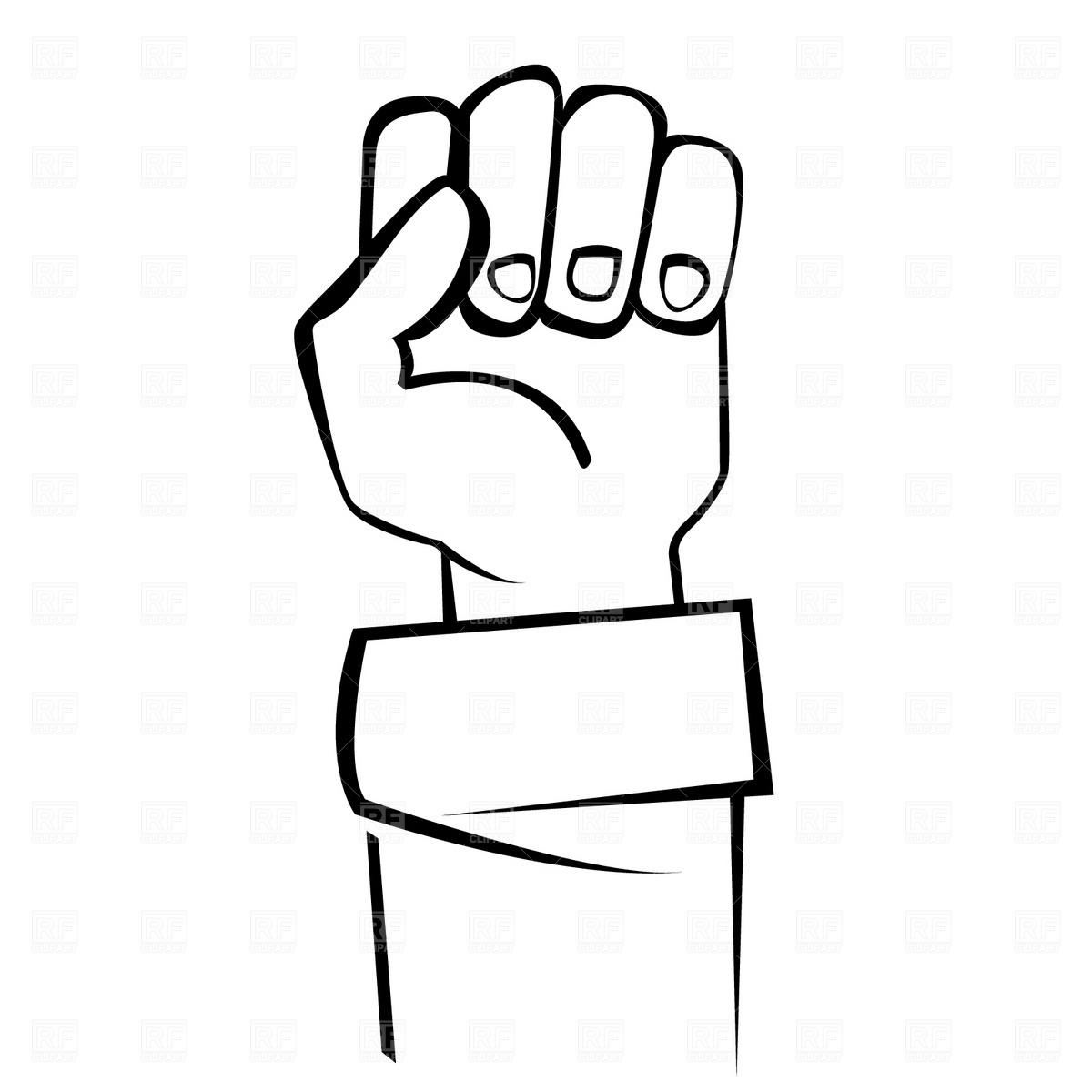 Clenched fist clipart
