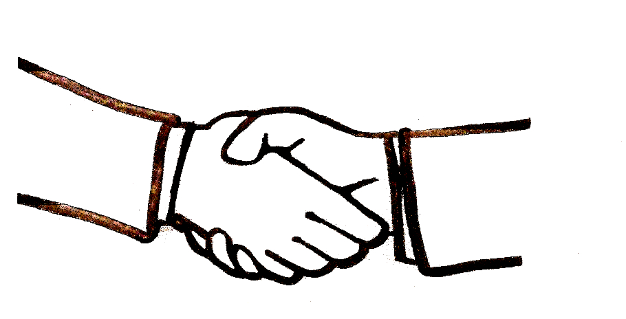 Drawing Of A Handshake - ClipArt Best