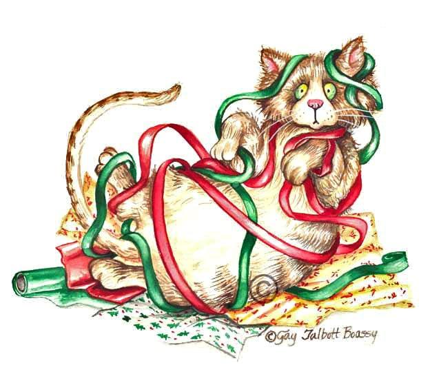 Christmas Cat Clip Art - ClipArt Best