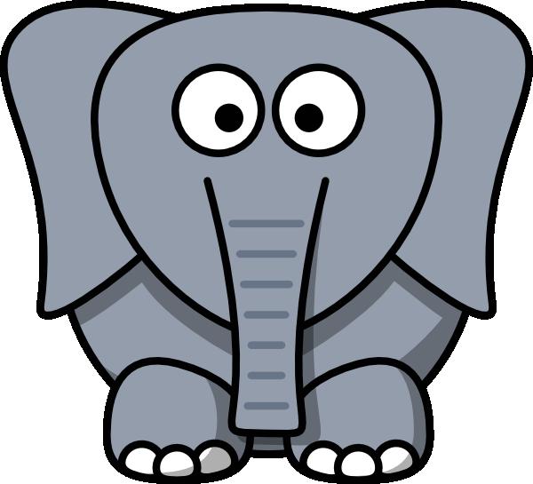 how to draw a cartoon elephant easy