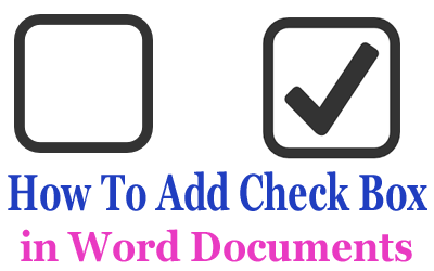 how to get a tick box in word