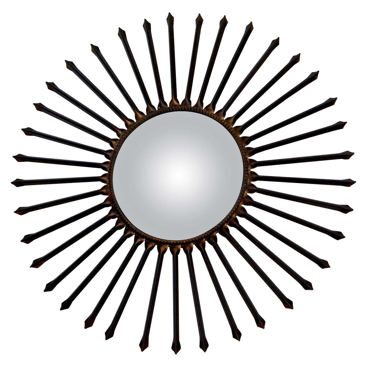 Metal Arrow Sun Ray Mirror For Sale at 1stdibs