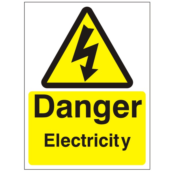 Kitchen Safety Signs Download: Electricity Dangers Symbols