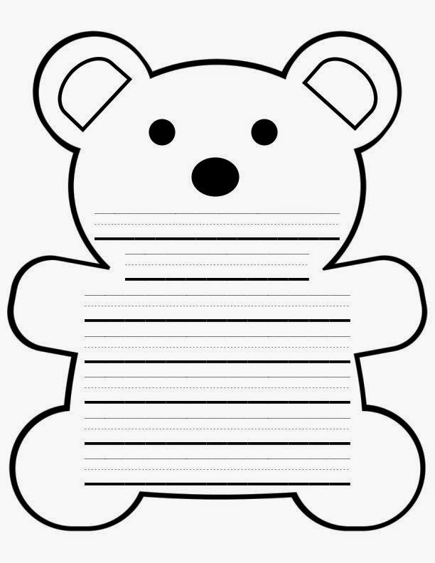 Best Photos of Paper Teddy Bear Template - Preschool Teddy Bear ...