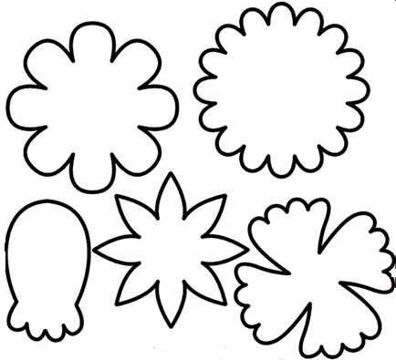 Flower cutout clipart best for Paper cut out templates flowers
