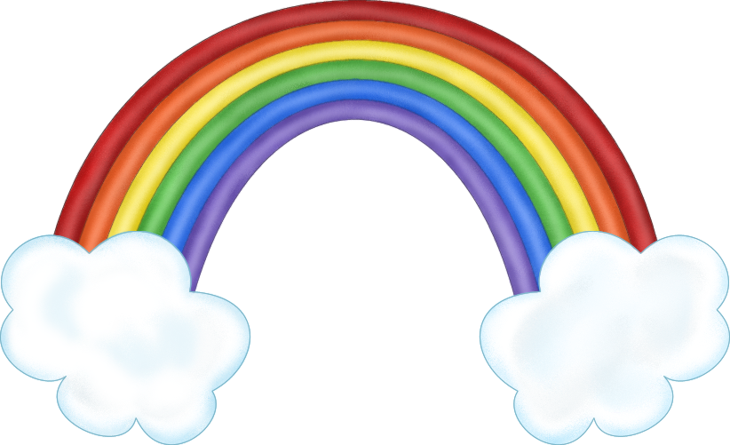 clipart rainbow with clouds - photo #1