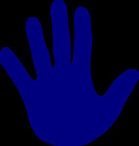Hand Blue Left clip art - vector clip art online, royalty free ...