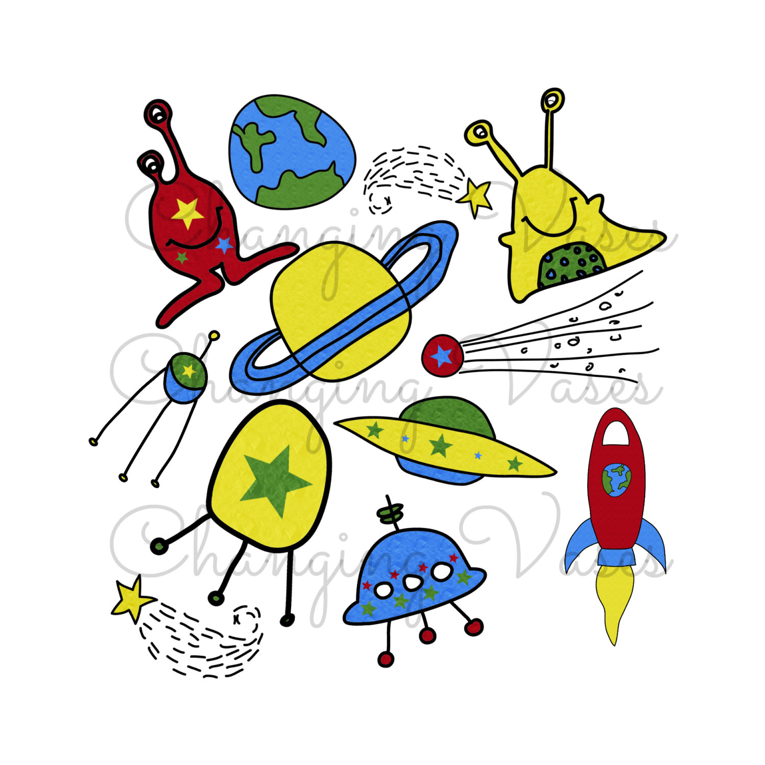 Space Clip Art Clipart space monsters