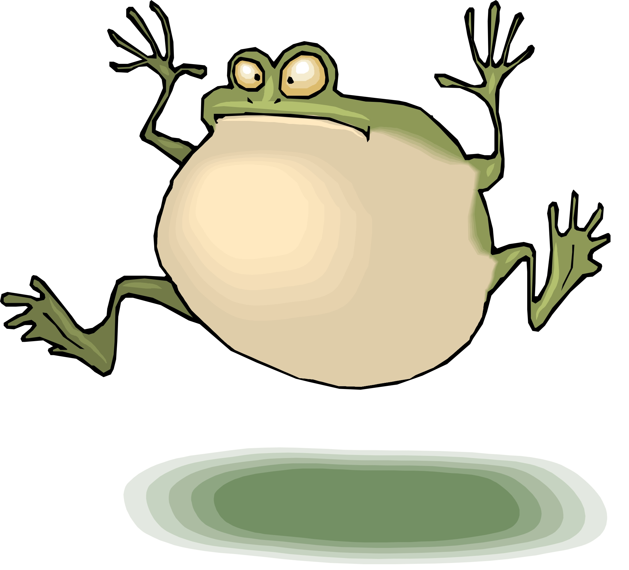 Clipart Frog Jumping