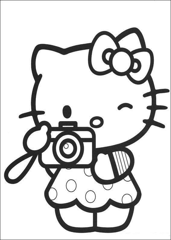 Hello Kitty Black And ...