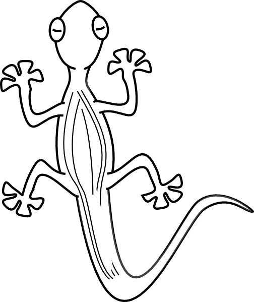 Lizard Template For ClipArt Best