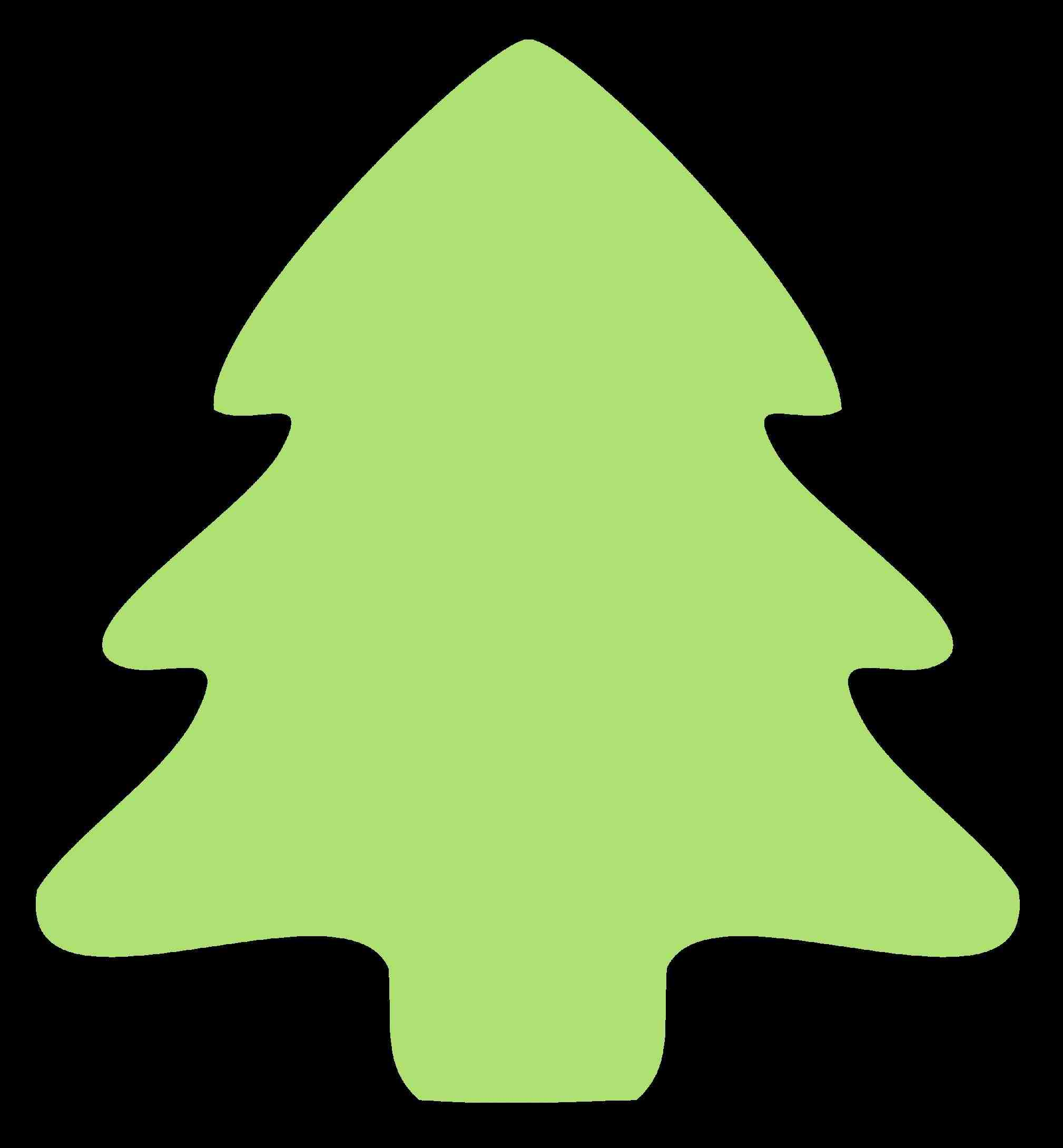 christmas tree outline clipart best