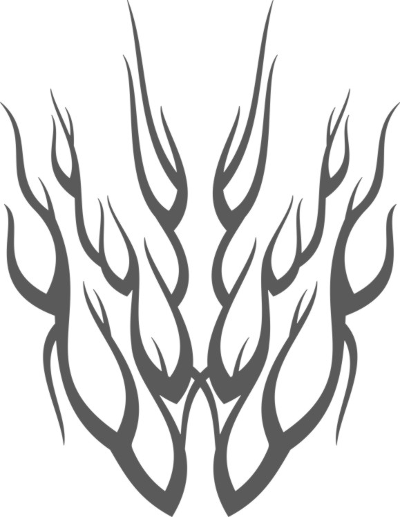 Line Drawing Fire : Line drawing flames clipart best