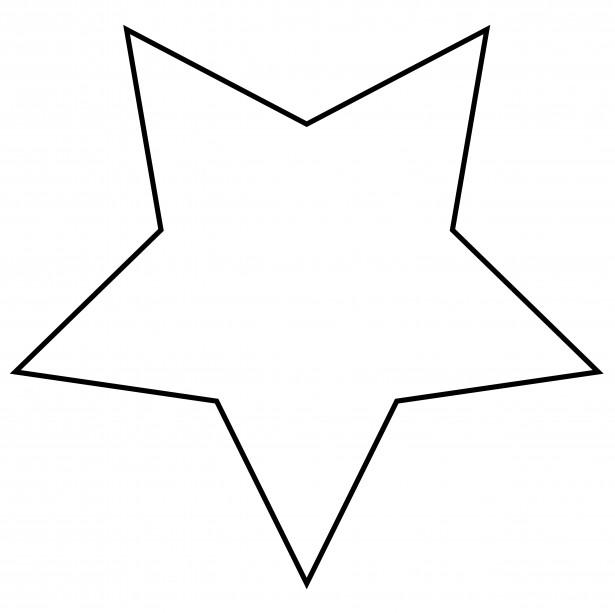 Звёзды рисунок контур