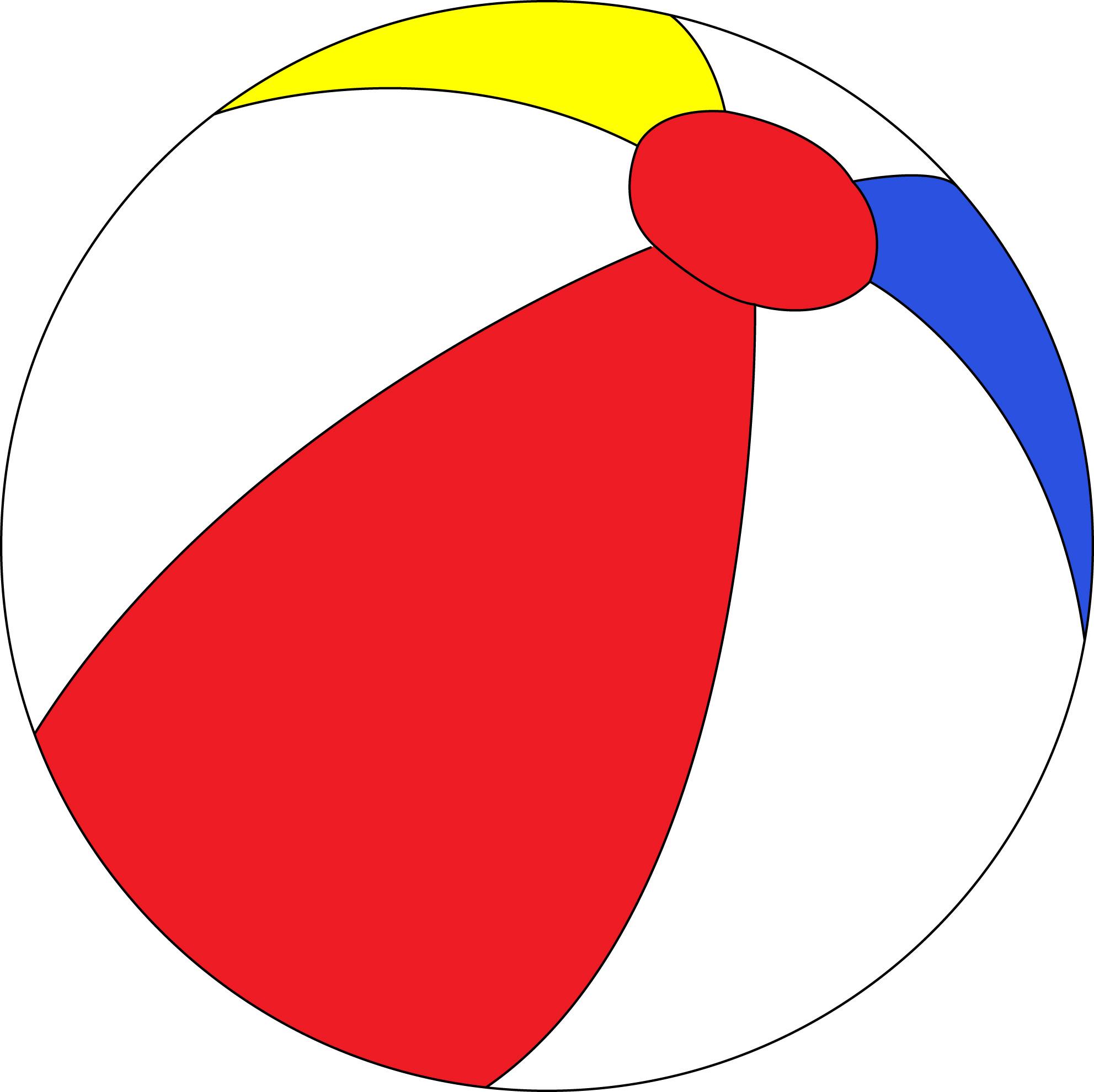 Beach Ball Template - ClipArt Best