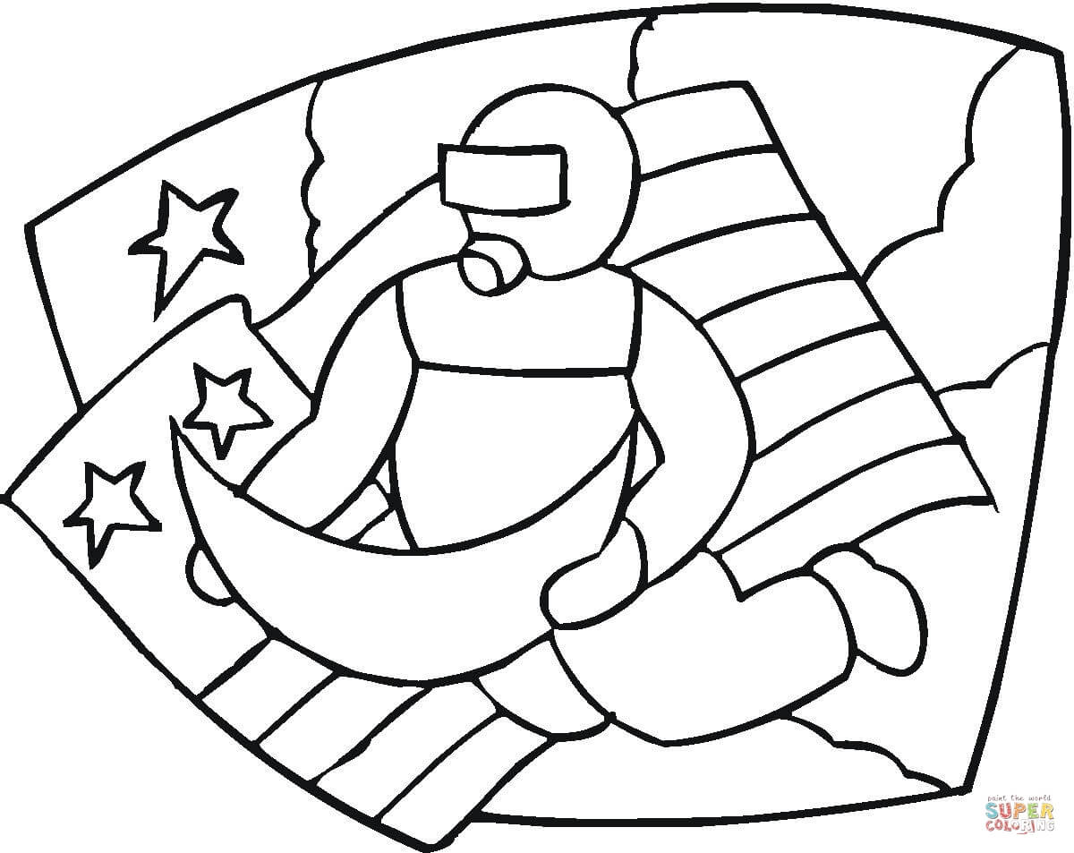 Astronaut Line Drawing - ClipArt Best