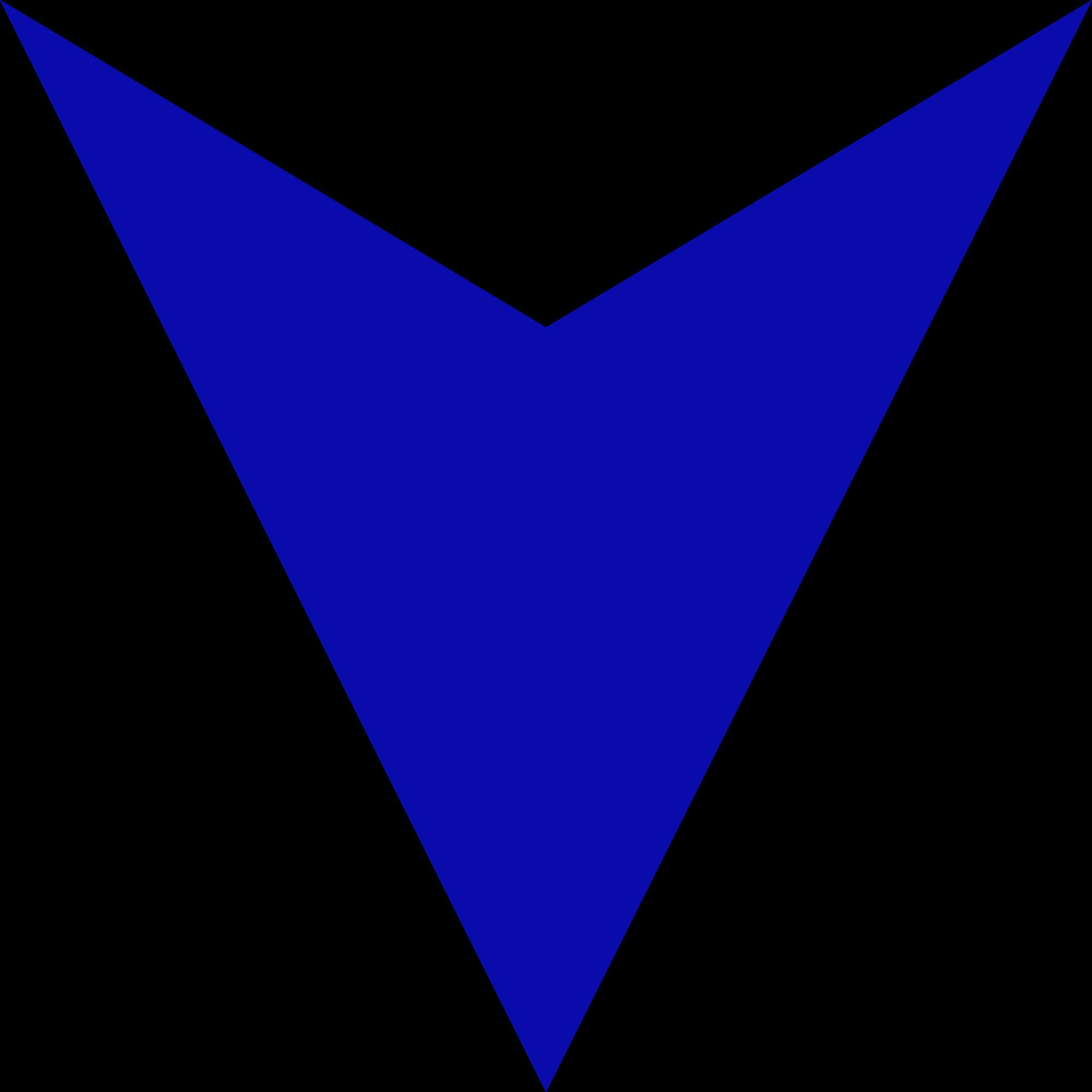 Blue Down Arrow - ClipArt Best