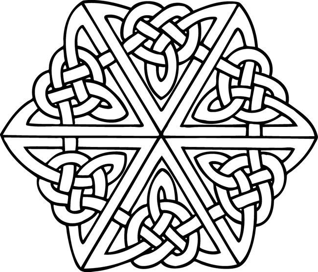 free celtic symbols coloring pages | Free Printable Celtic Cross Coloring Pages - ClipArt Best