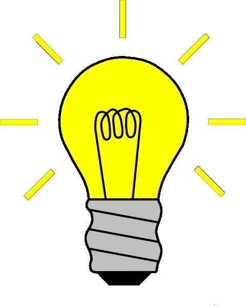 Animated light bulb clipart