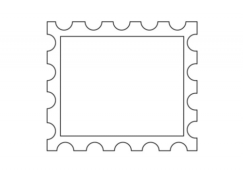 Postage Stamp Clip Art Black And White Printable Posta...