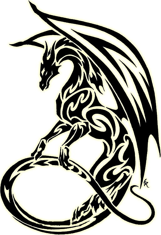 Tribal Dragon - ClipArt Best