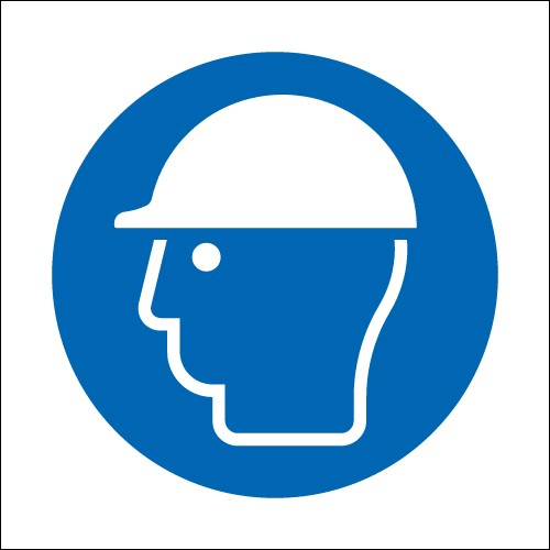 Helmet Symbol Signs - PPE Signs - Mandatory Signs - Safety Signs ...