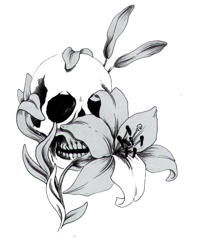 Black And White Skull Tattoo Designs Design Tattoo Skull Free