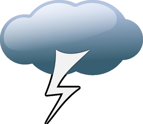 Thunderstorm Weather Symbols clip art - vector clip art online ...