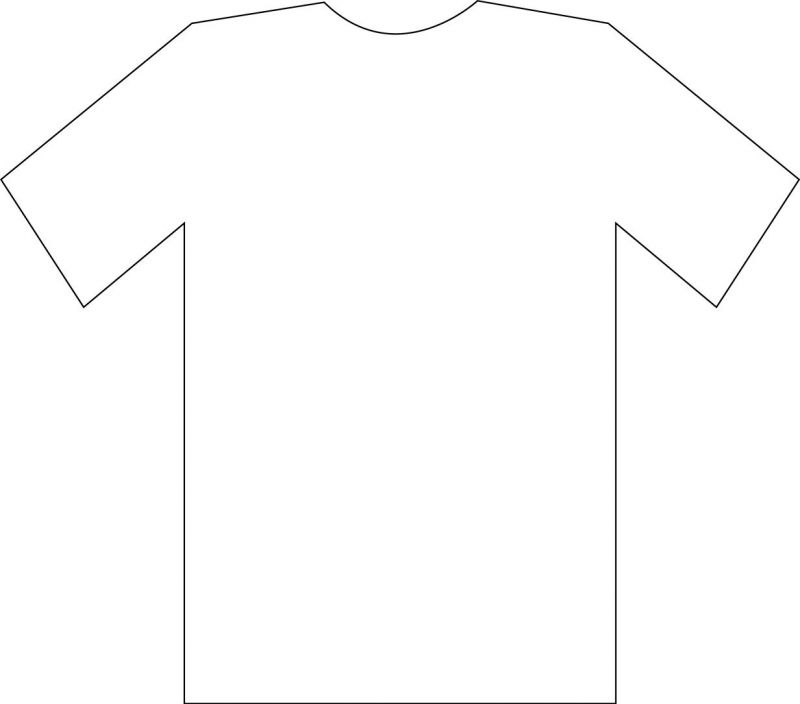 printable t shirt template clipart best