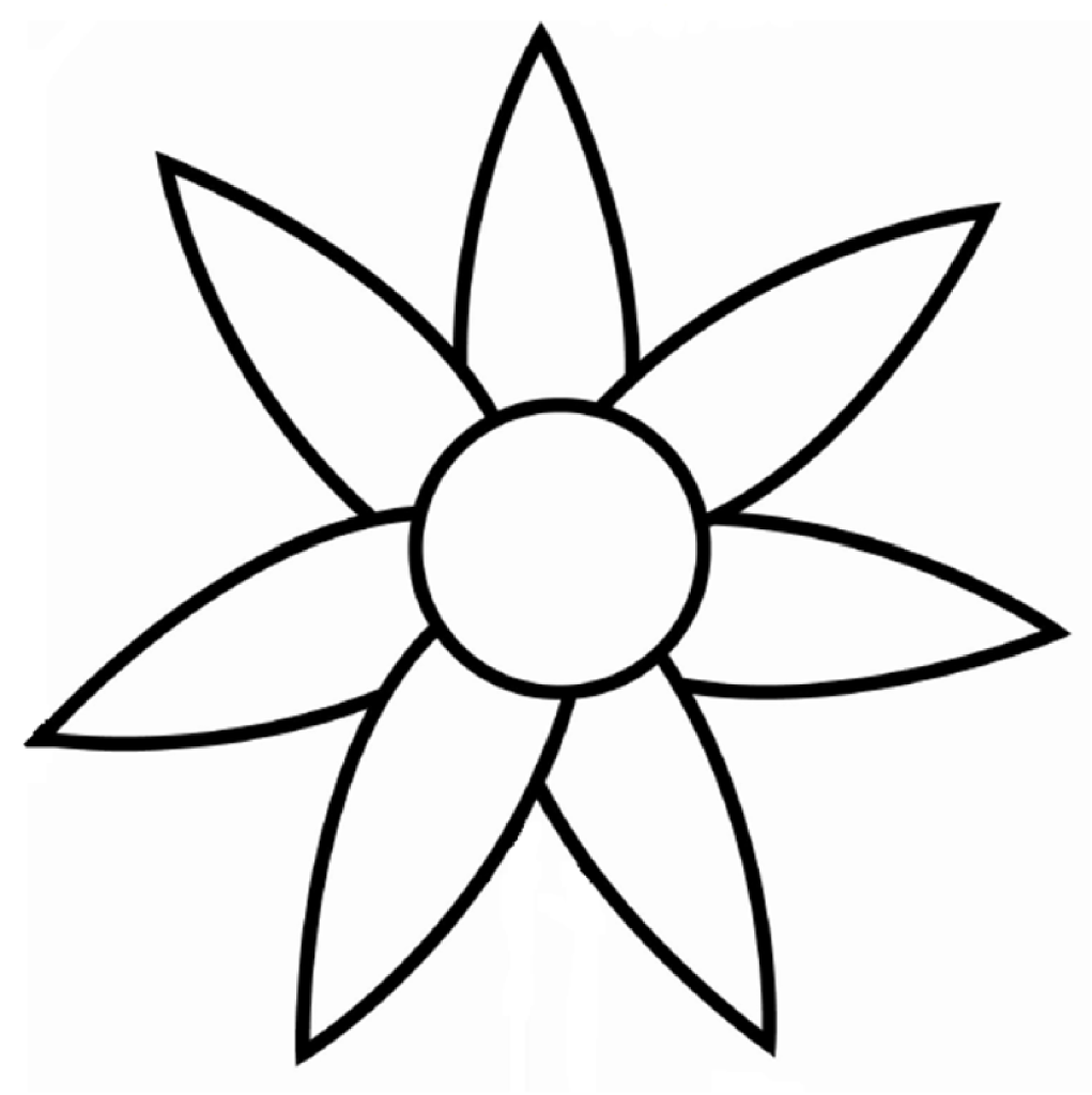 Flower Outline Drawing : Flower outline drawing clipart best