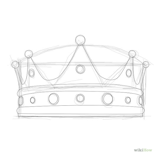 Simple Crown Drawings