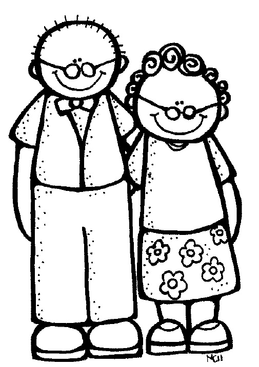 free grandparents coloring pages - grandparents clip art clipart best