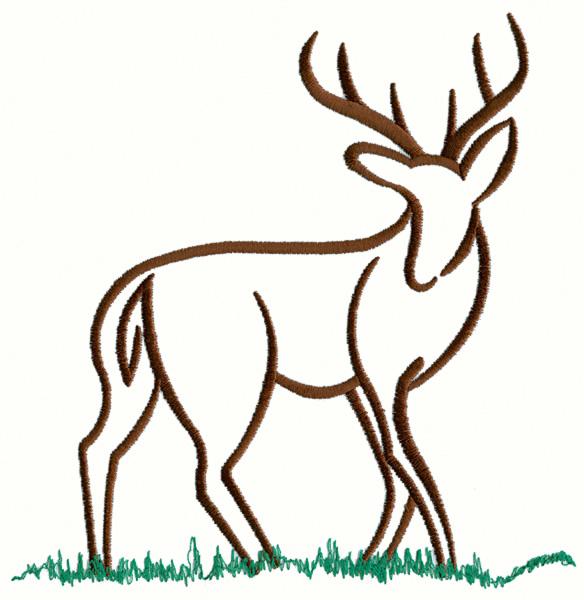 Free Deer Antler Embroidery Design