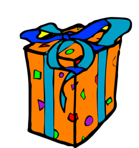 Wraped Gift clip art - vector clip art online, royalty free ...