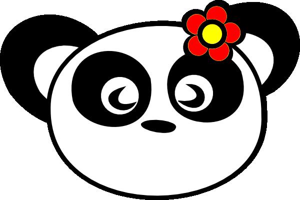 Flower Panda clip art - vector clip art online, royalty free ...