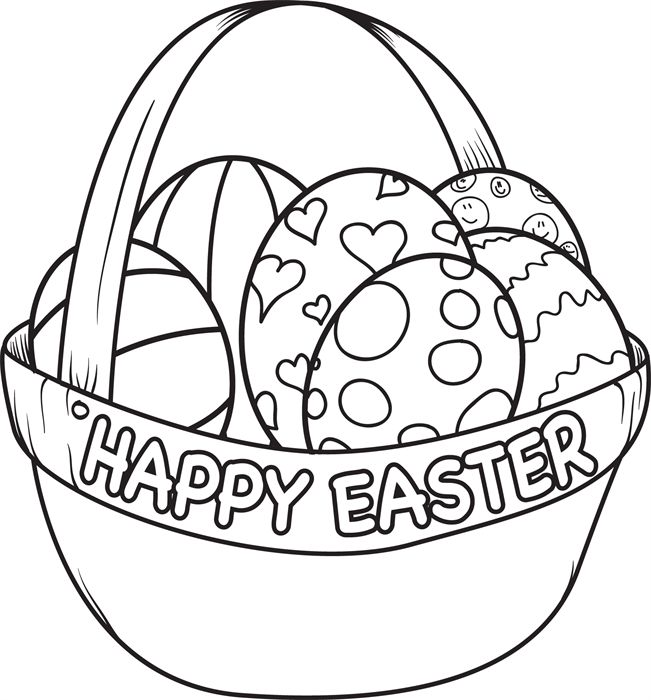 easter egg basket coloring pages clipart best Cracked Egg Coloring Page  Best Easter Egg Coloring Ideas