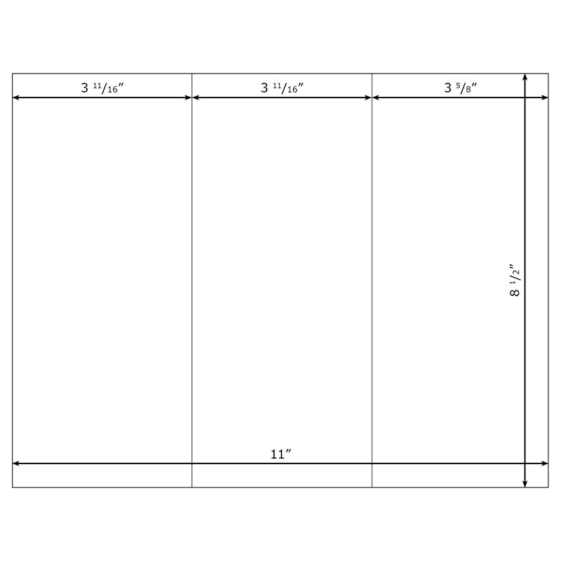 Blank brochure templates for kids clipart best for Blank trifold template