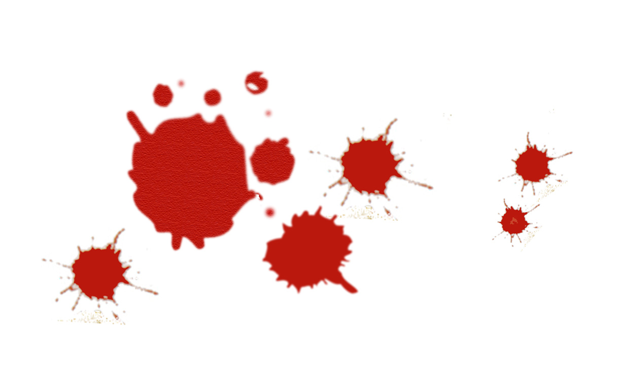 Blood splatter clipart