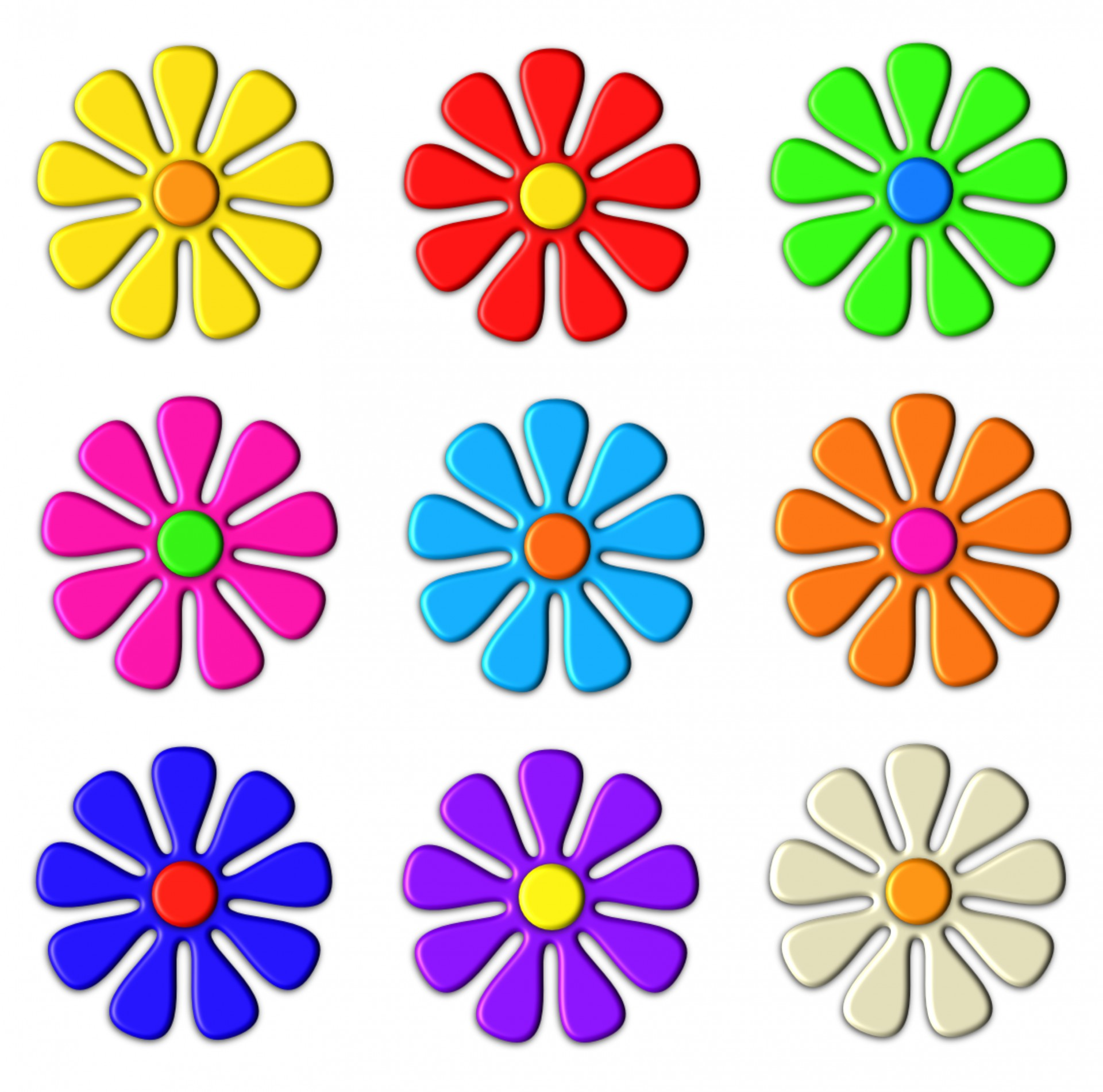 op art floral graphics - photo #9
