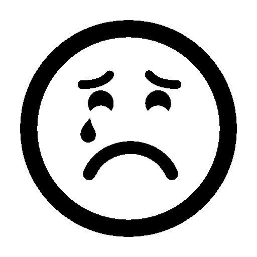 Black N White Sad Emoticon - ClipArt Best