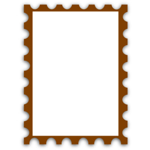 Blank Postage Stamp clip art - PolyvoreRush Delivery Stamp