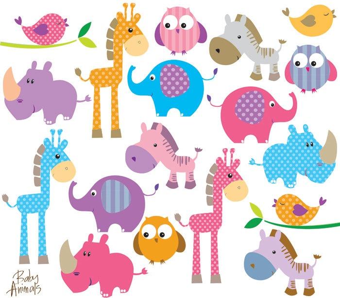 Safari jungle animals clip art and safari animals - Cliparts Scrapbooking Baby Clipart Best