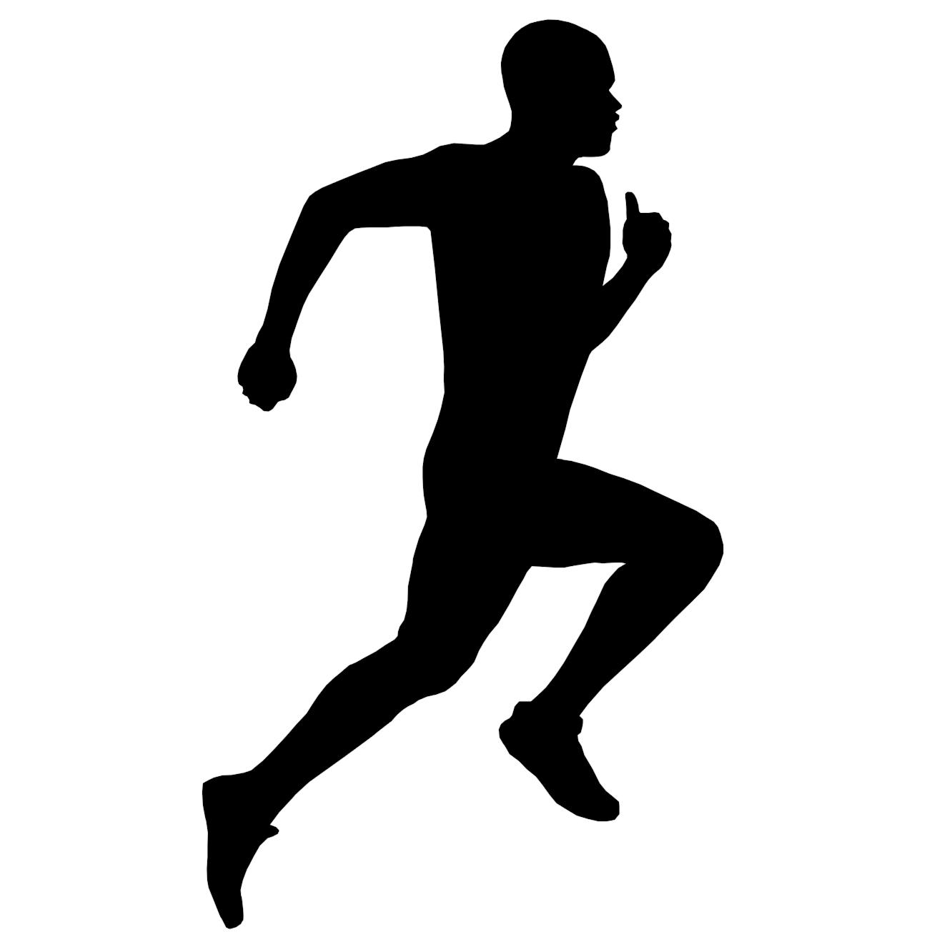 Silhouette Running Man - ClipArt Best