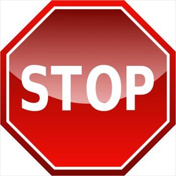 Clip Art Stop Sign Clipart blank stop sign clip art clipart best art