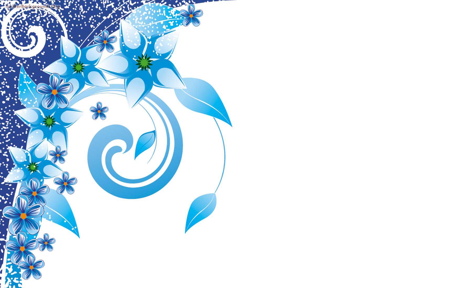 blue flower border design clipart best