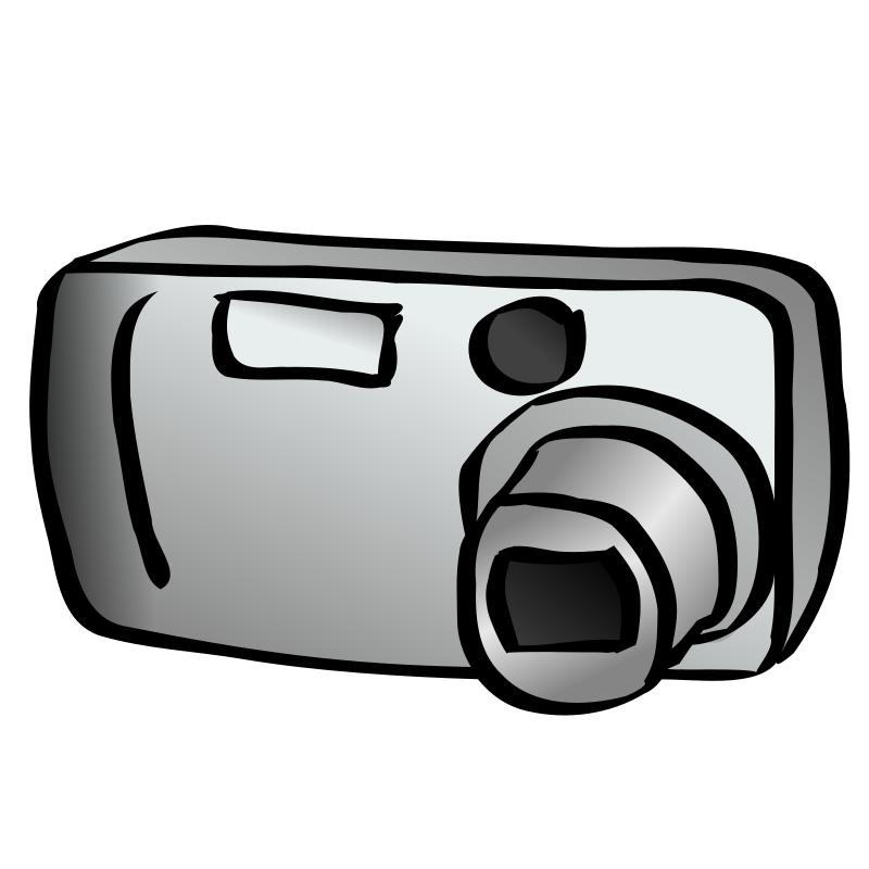 free camera clipart black and white - photo #36